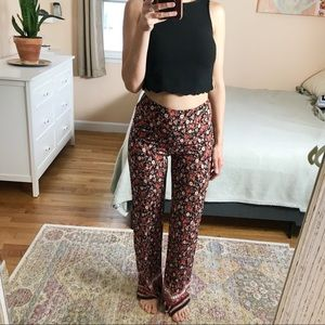 High waist palazzo pants and scalloped crop top S
